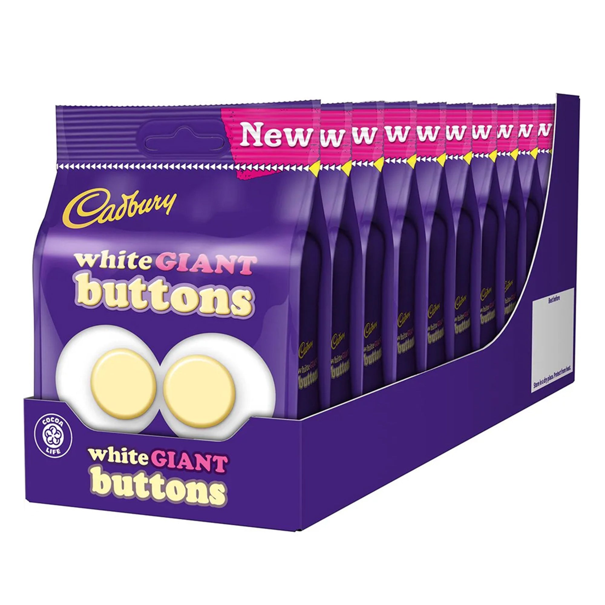 Cadbury White Giants Buttons Chocolate 110g(10 BOX), Food Items by TradeNRG