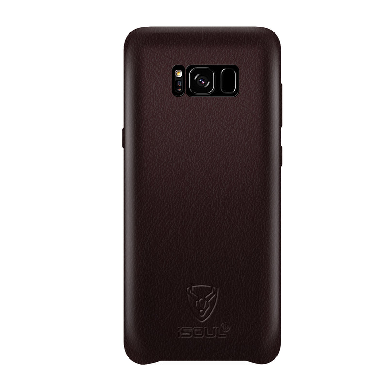 iSOUL Samsung S8 Leather Back Case Coffee / Brown
