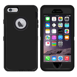 iSOUL Heavy Duty Military Grade Armor case Protective Case for iPhone 6 Plus & iPhone 6s Plus Black - TradeNRG UK