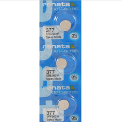 3 X Renata Silver Oxide Watch Battery 377 Sr626Sw 626 1.55V % Original Brand Renata 377 Renata 626 Battery