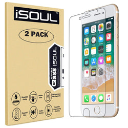 2x iSOUL iPhone 6 Screen Protector and iPhone 7 Tempered Glass Film-Screen Protector-TradeNRG UK