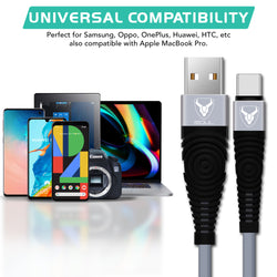 Universal Compatibility Micro USB Cable - Grey