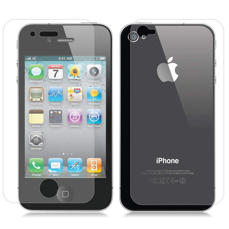 iSOUL 2 in 1 Front and Back Tempered Glass iPhone 4   iPhone 4s 4b2f895755