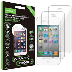 2x iSoul Apple iPhone 4/4S 9H 0.26 mm Tempered Glass Screen Protectors-Screen Protector-TradeNRG UK
