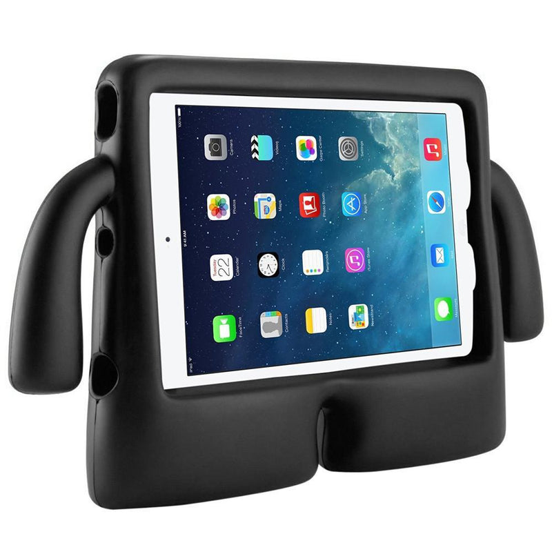 Children's iPad's Case lightweight Stand & Handle for iPad 2 3 4 -Black Front view