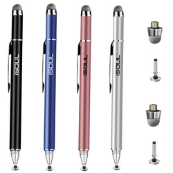 iSOUL Stylus Capacitive 2 in 1 Disc Tip and Microfiber Touchscreen Pen-Stylus-TradeNRG UK