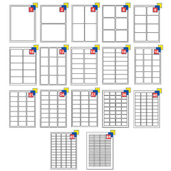 Address Labels White A4 Sheets Sticky Self Adhesive For Inkjet / Laser Printer - TradeNRG UK