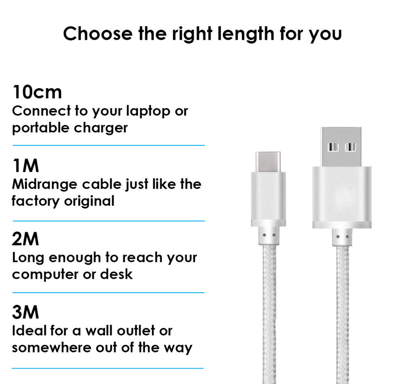 USB-C USB 3.0 TYPE-C DATA SYNC CHARGER CHARGING CABLE HEAVY DUTY BRAIDED - USB CABLE - ISOUL	 - 13