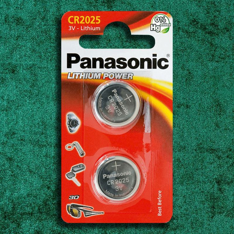 Panasonic CR2025 Lithium Coin Batteries Pack of 2 Batteries