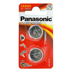 Panasonic CR2025 Lithium Coin Batteries Pack of 2