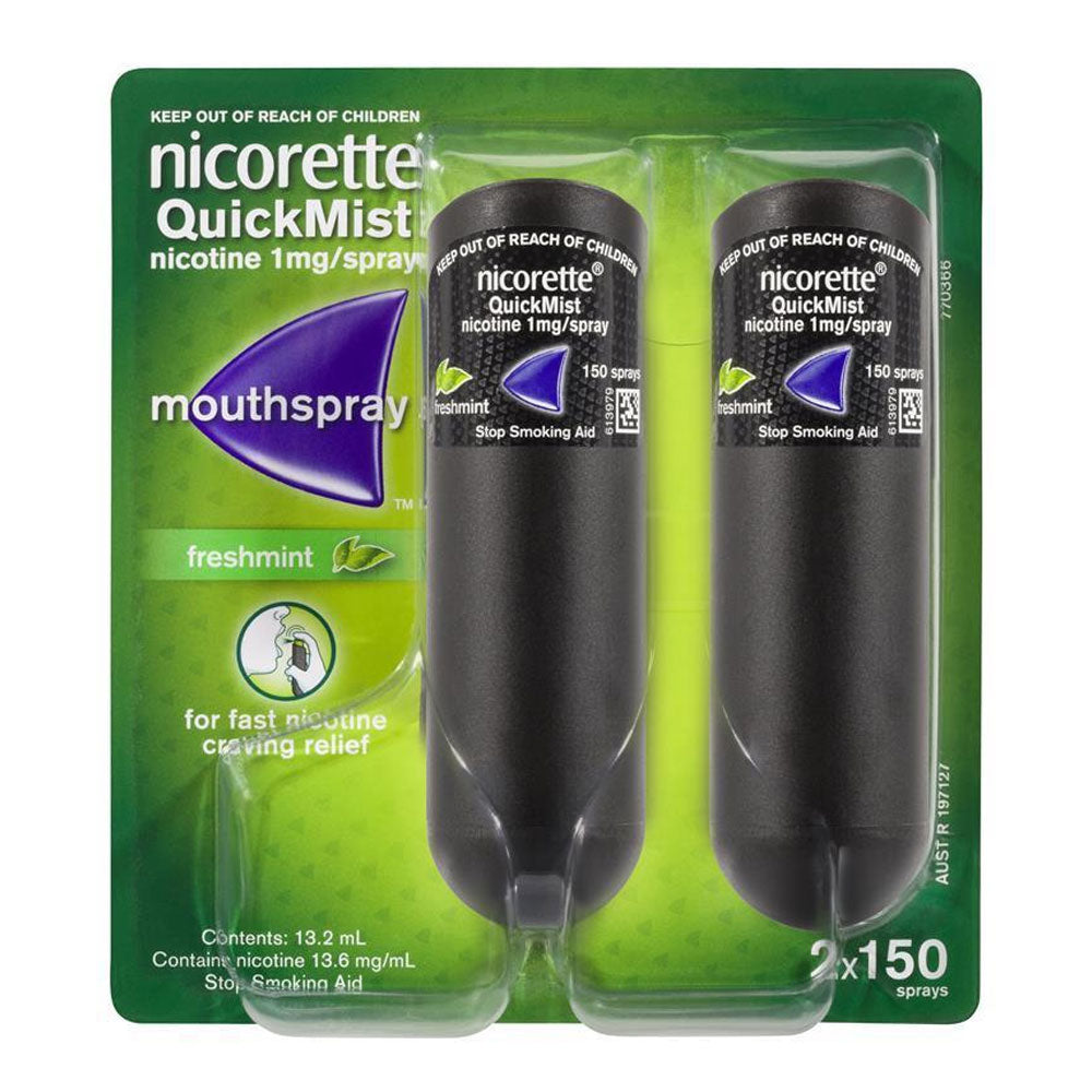 Nicorette Quickmist Duo 1mg Freshmint Mouthspray, Smoking Accessories by TradeNRG