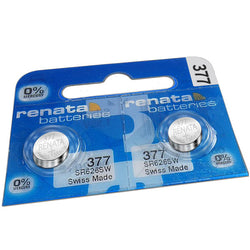 Renata 377 SR626SW Watch Cell Battery Swiss Made 1.55V | Pack of 2 - TradeNRG UK