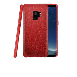 iSOUL Samsung S9 Leather Back Case Red