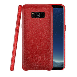 Samsung S8 Leather Back Case Red