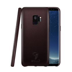 Samsung S9 Leather Back Case Coffee