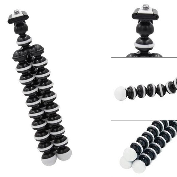 Universal Octopus Mini Tripod Stand Holder Stand Holder For Camera Grey Black-Tripod-TradeNRG UK