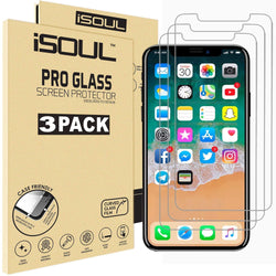 iSOUL iPhone XS Screen Protector Glass 0.26mm 5.8 Inch Tempered Glass Strong Case Friendly Shatterproof iPhone X Protector 3 Pack - TradeNRG UK