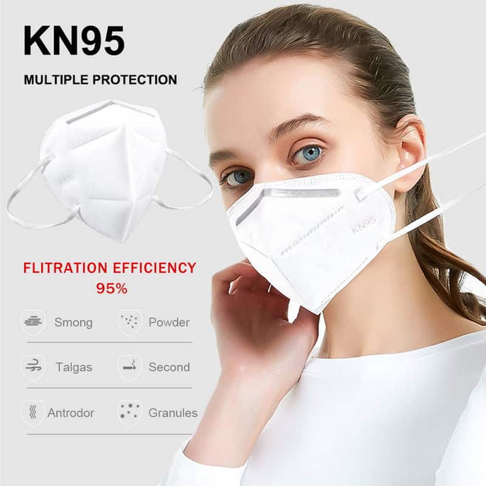 1x KN95 Face Mask Anti-Dust Breathable Protective Mask with N95 Filter by  TradeNRG