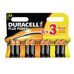 Duracell Plus Power AA Batteries (Pack of 8) LR6 MN1500 8 Battery - TradeNRG UK