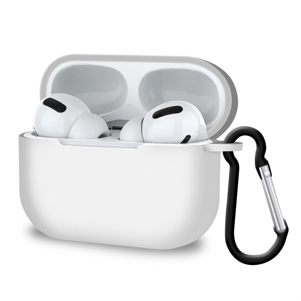 Slim Thin wireless Charging Case for Apple AirPods Pro 3rd Gen White, Audio by TradeNRG
