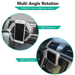 180° Degree air vent phone holder for car-Car Air Vent Phone Holder-TradeNRG UK