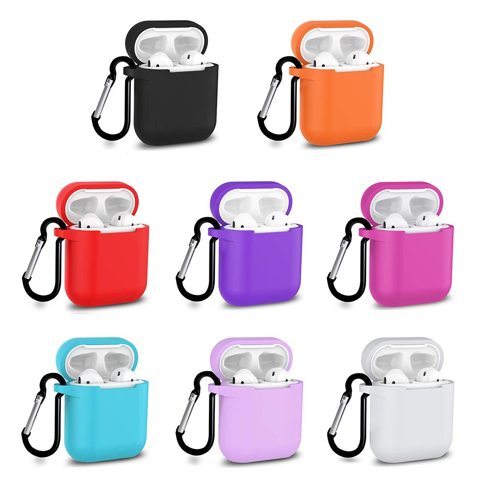 Multicolour Apple Airpods 1 2 Case with Keychain Wireless charging, Audio by TradeNRG