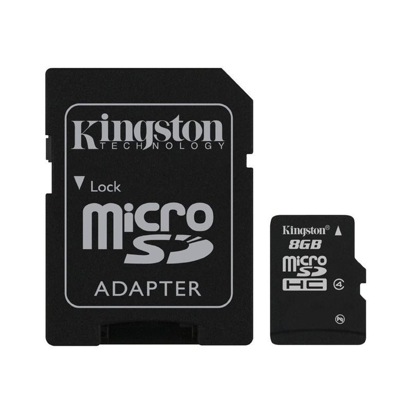 Kingston 8GB Class 4 Micro SD Card with SD Adapter-Memory Cards-TradeNRG UK