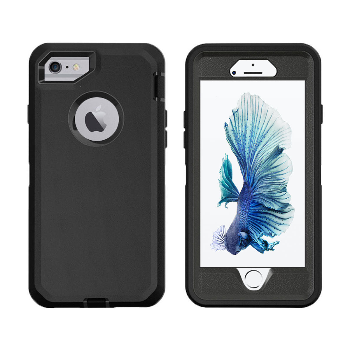 new arrival 56cc8 47106 Case For Apple Iphone 6/6S Heavy Duty Military Grade Armor Protective Case,  Anti Shock Defender Cover Shell For Apple 6/6S - Black