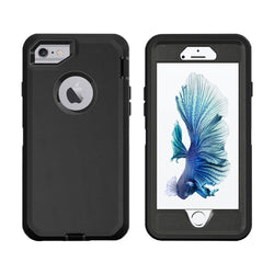 Case For Apple Iphone 6/6S Heavy Duty Military Grade Armor Protective Case, Anti Shock Defender Cover Shell For Apple 6/6S - Black