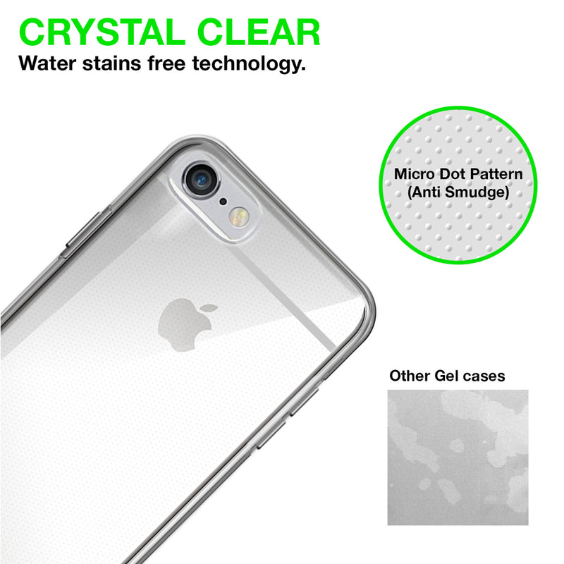 Gel Case Iphone 6 / 6S Cover Case Ultra Slim Lightweight Anti Scratch Crystal Transparent Clear Flexible Soft Gel Tpu Back Case Cover For Iphone 6 / 6S