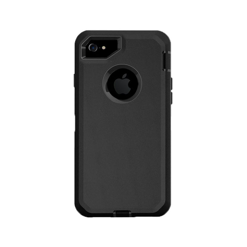 Case For Apple Iphone 7 Plus, Heavy Duty Military Grade Armor Protective Case, Anti Shock Defender Cover Shell For Apple Iphone 7 Plus - Black - TradeNRG UK