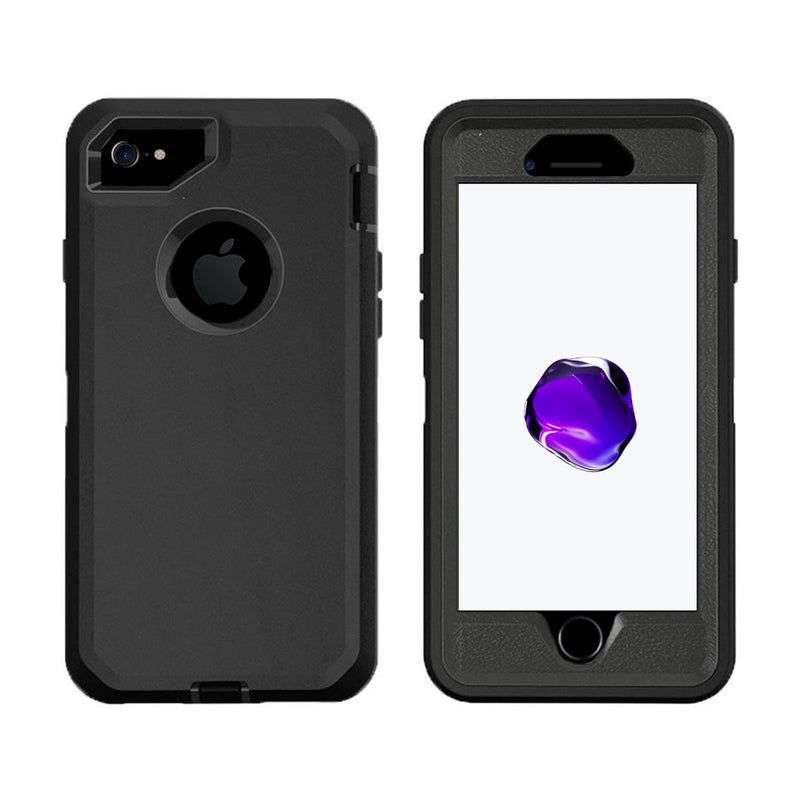 Case For Apple Iphone 7 Plus, Heavy Duty Military Grade Armor Protective Case, Anti Shock Defender Cover Shell For Apple Iphone 7 Plus - Black