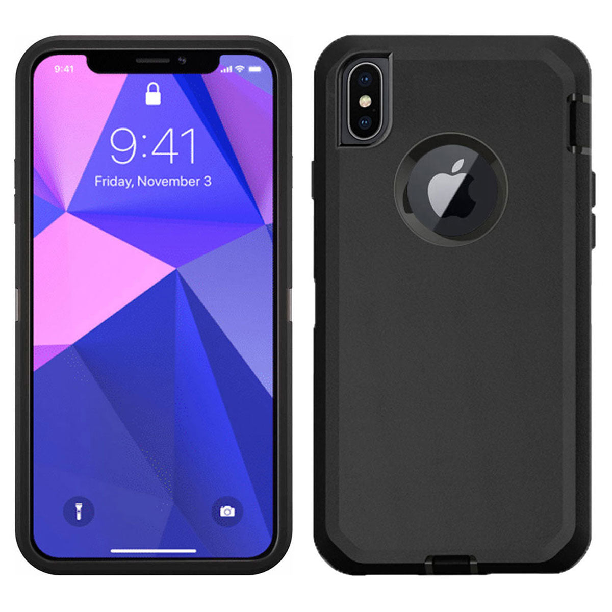 online store 3823a f93fd iSOUL Heavy Duty Military Grade Armor case Protective Case iPhone X and  iPhone XS Black
