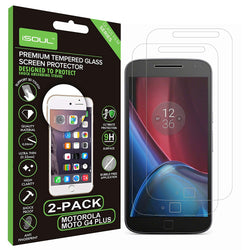 iSOUL Moto G4 Plus Screen Protector 9H Hardness Ultra Clear Anti-Scratch Case Friendly Tempered Glass 2 Pack-Screen Protector-TradeNRG UK