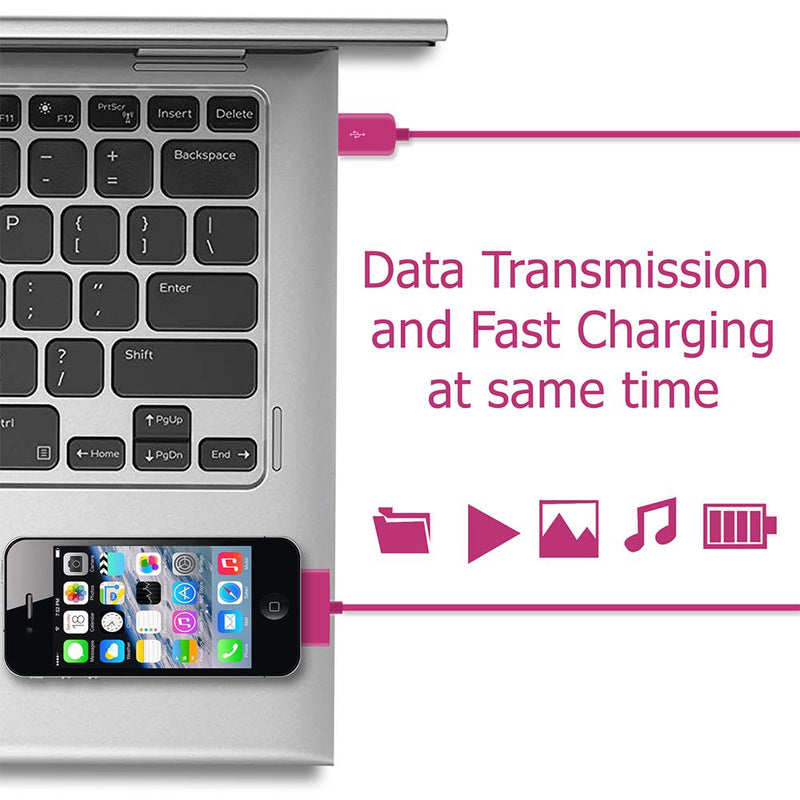 30-pin USB Data Sync Pink Cable 1 Metre for iPhone 4 - iSOUL