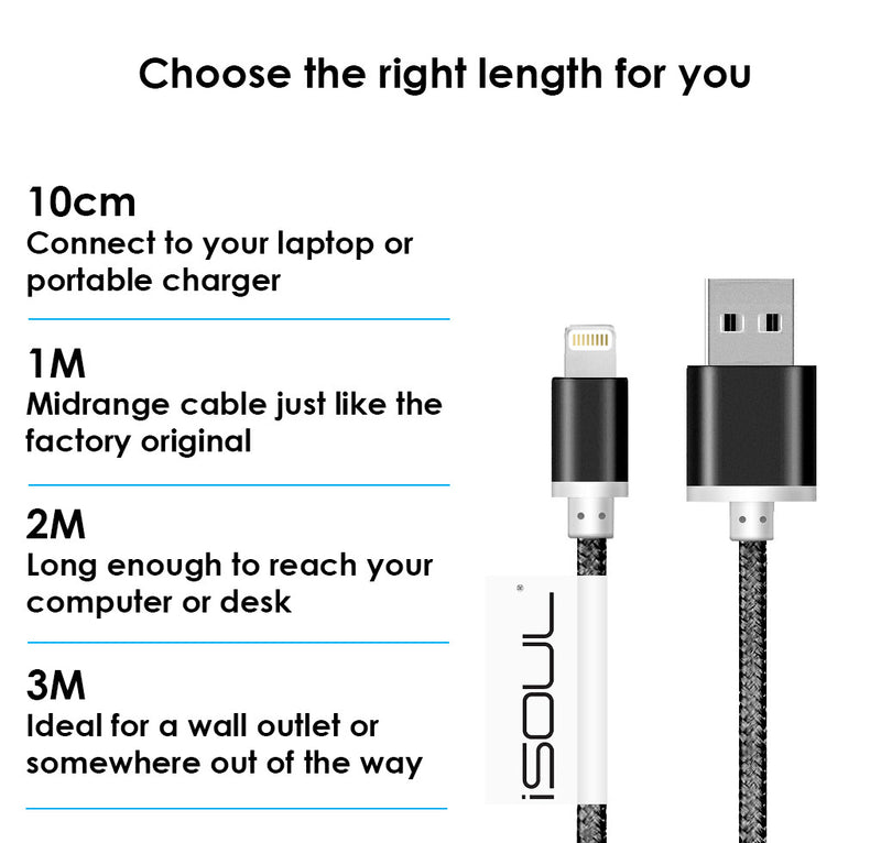 iPhone Charger USB Data Sync & Charge Lightning Cable for Apple iPhone 5/6/7 Plus - USB CABLE - ISOUL	 - 13
