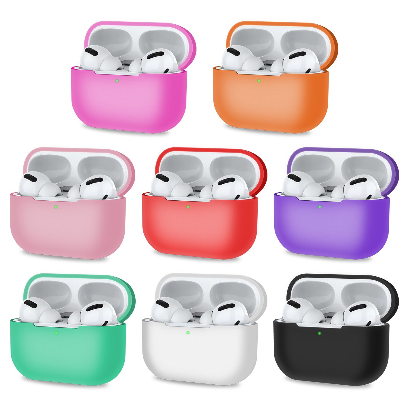 Protective Case for Airpods Pro with Front LED Visible - Multicolored, Audio Accessories by TradeNRG
