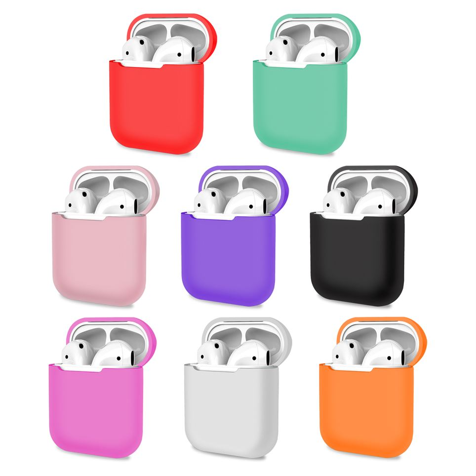 AirPods 1 2 Case Cover Skin Earphone Charge Silicone Case Multi color, Headphone & Headset Accessories by TradeNRG
