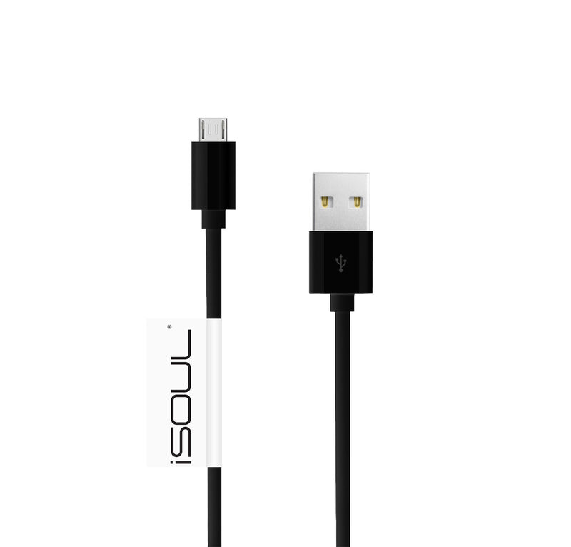 iSOUL Micro USB Fast Charger Cable 2.4AMP Lead Many Sizes - TradeNRG UK