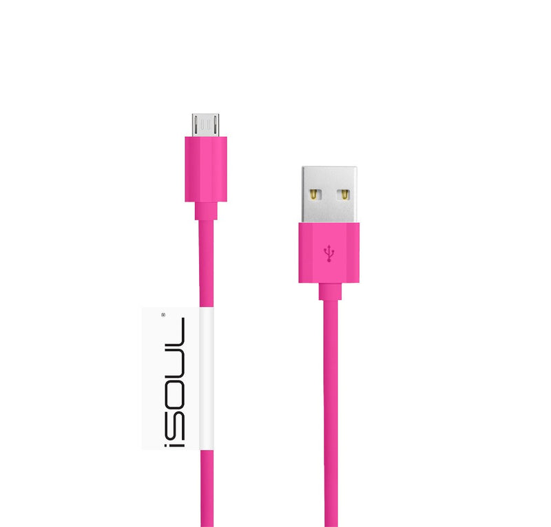 24AWG Micro USB Charger Cable 2.4Amp Fast Sync Charging Lead USB 2.0 A Male to M - USB CABLE - ISOUL	 - 22