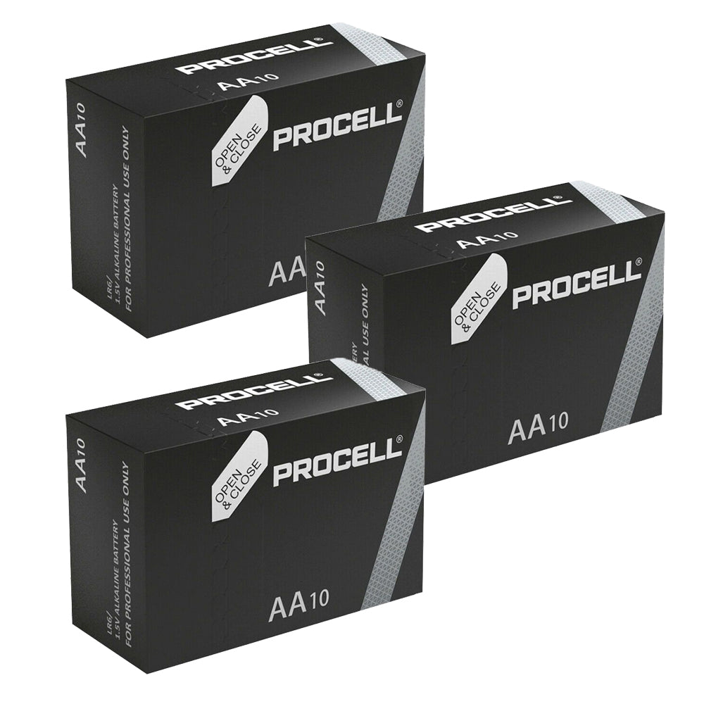 30X Duracell Industrial AA Batteries Alkaline 1.5V LR6 MN1500 Procell Battery AM, Electronics by TradeNRG