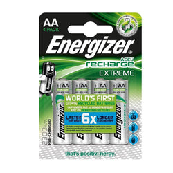 4x Energizer AA 2300 mAh Battery Extreme Pre - Rechargeable Batteries-Battery-TradeNRG UK