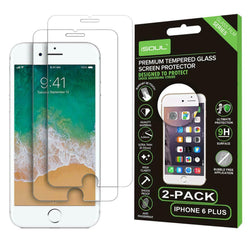 2x Apple iPhone 6 Plus Tempered Glass Screen Protector Gorilla Shield