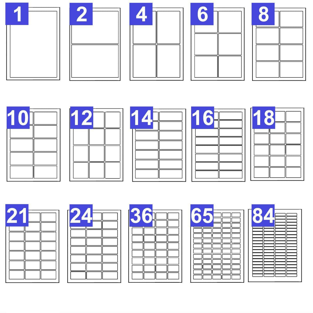 picture regarding Printable Sticky Labels named Printable Cover Labels A4 Undeniable White Sticky Self-Adhesive