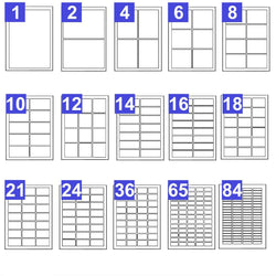 Printable Address Labels A4 Plain White Sticky Self-Adhesive Laser Copier Inkjet - TradeNRG UK