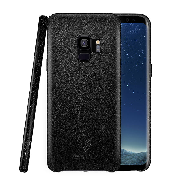 Samsung S9 Genuine Leather Back Case Black