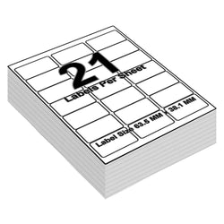 Address Labels to Print - 21 Labels per Sheet - 64mm x 38mm - iSOUL