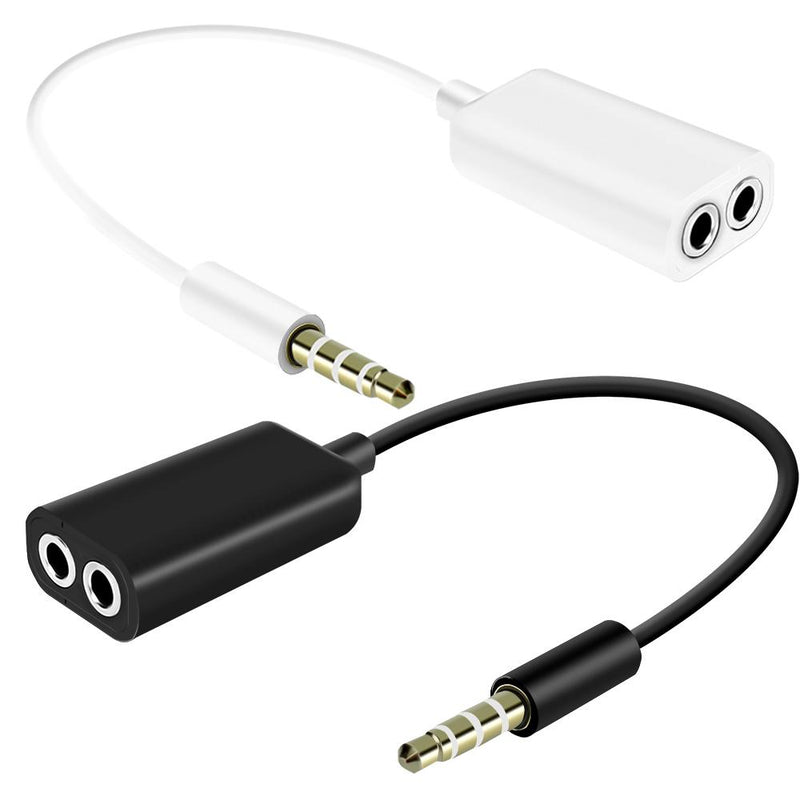 iSoul Best 3.5 mm Dual Audio Splitter Jack Cable For Earphone Headphone-Aux Cable-TradeNRG UK