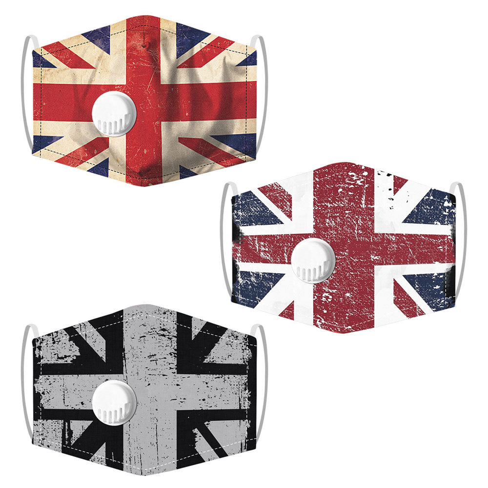 UK Flag Face Mask Washable Reusable Breathable Unisex Protective Mouth Cover by  TradeNRG