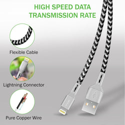 iSOUL Apple MFI Certified Data Sync & Charge Lightning Cable 2m Long-MFi Cables-TradeNRG UK